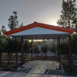 اجرای آلاچیق فلزی در پارک رباط کریم