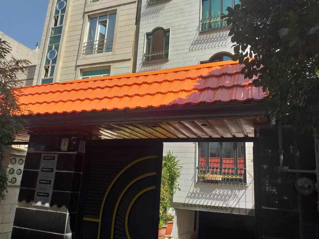 ساخت و نصب سر درب با ورق پرچین خیابان دماوند