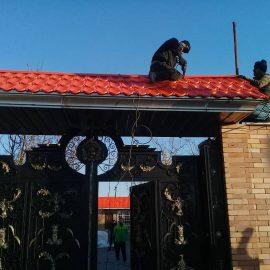 ساخت و نصب سردرب ویلا با ورق پرچین در شهریار دهشاد