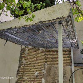 ساخت و نصب آلاچیق تک شیب با ورق. Upvc در خیابان آفریقا