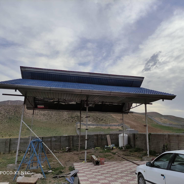 اجرای سقف شیبدار ، پوشش ورق پرچین در دماوند ، جابان